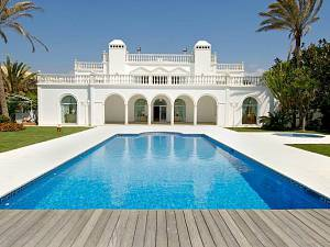 Front line Beach Casasola - Arabic style villa  with panoramic sea views