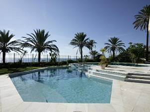 Villa  with a cascading swmming pool,  beautiful lanscaped gardens and a large BBQ area