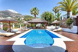 Lovely character detached family villa in the hillside setting of Las Lomas de Mijas just a short distance from Mijas Pueblo, Mijas