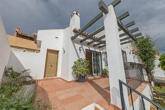 Detached villa with south west facing terrace and secluded terrace offer 2/4 bedroom accommodation with great potential Mijas Costa