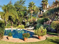 Beautiful villa with magnificent view towards the large swimming pool, the garden and the Mediterranean Sea, Estepona