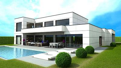 Contemporary styled villa to be built in a favoured position in Marbella within easy reach of all the facilities of Marbella Town and Puerto Banus