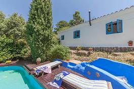 Finca standing in 50,000 m2 consisting of a main house with 3 guest lodges and 2 swimming pools, Casares, Estepona