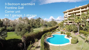 South west facing apartment with views over the golf course from its spacious terraced, Guadalmina, Marbella