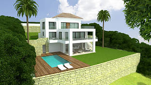 New build villa standing on the site of an old villa in an established and much sought after residential location, Estepona