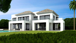 New build luxury villa is being built on the grand contemporary style with large well-proportioned rooms, Casasola, Estepona