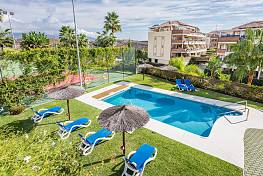 An exceptionally spacious 4 bedroom family townhouse situated in a lovely community on the golf course at Miraflores Golf, Mijas Costa
